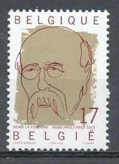 Belgium  Henri La Fontaine Nobel prize winner