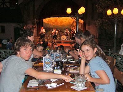 German restaurant in Epcot at DisneyWorld