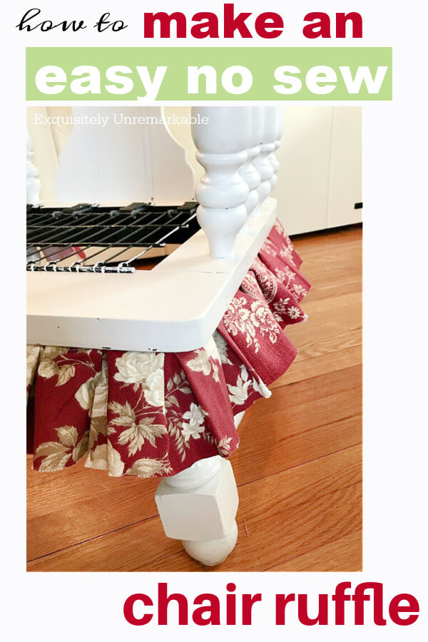 How To Make An Easy No Sew Chair Ruffle