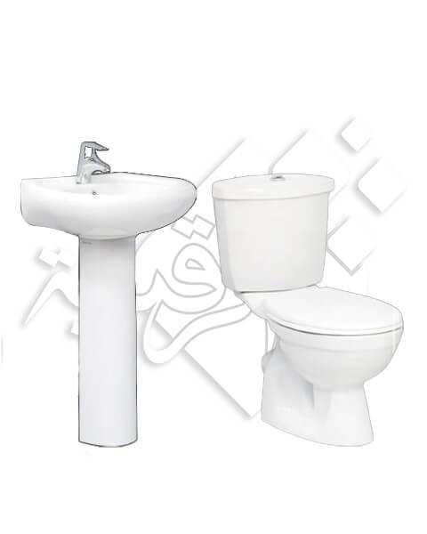 طقم حمام فيكتوريا كامل/ سيراميكا ريماس