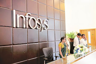 Infosys down