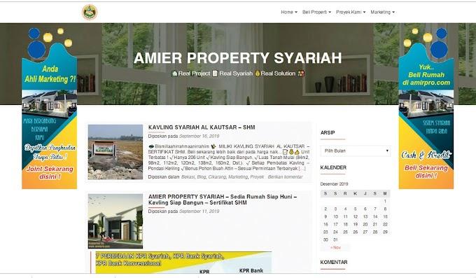 Website Pemasaran Properti Amirpro.com