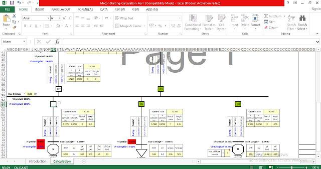 Download Motor starting analysis Excel Spreadsheets