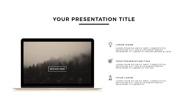 MacBook Gold Mockup Free Powerpoint Template Slide 2