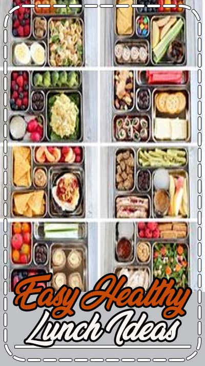 EASY LUNCH IDEAS for kids or adults. No heating necessary - perfect for lunchboxes. Hundreds of combinations and printable mix and match list. #lunches #packedlunch #lunchideas #nocook