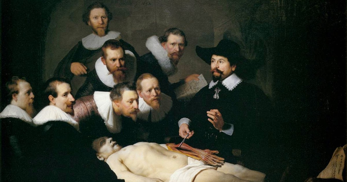 Art & Paintings: Rembrandt van Rijn - Anatomy Lesson of Dr. Nicolaes ...