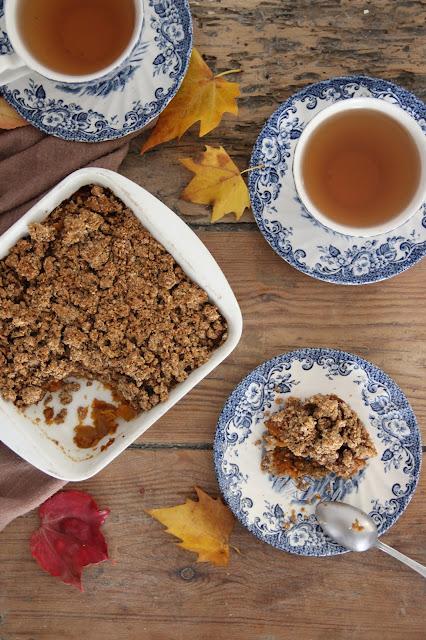"""Cuillère et saladier : Crumble """"pumpkin pie""""  (vegan)"""