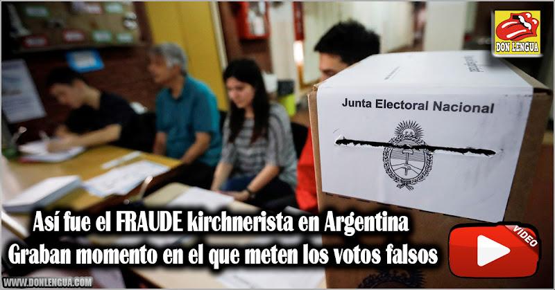 Así fue el FRAUDE kirchnerista en Argentina - Graban momento en el que meten los votos falsos