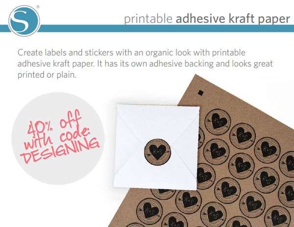 printable+adhesive+kraft+paper 40% off Silhouette Accessories Promotion + New Products 17