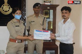 पुलिस अधीक्षक ने किया कुलदीप भाटिया का सम्मान