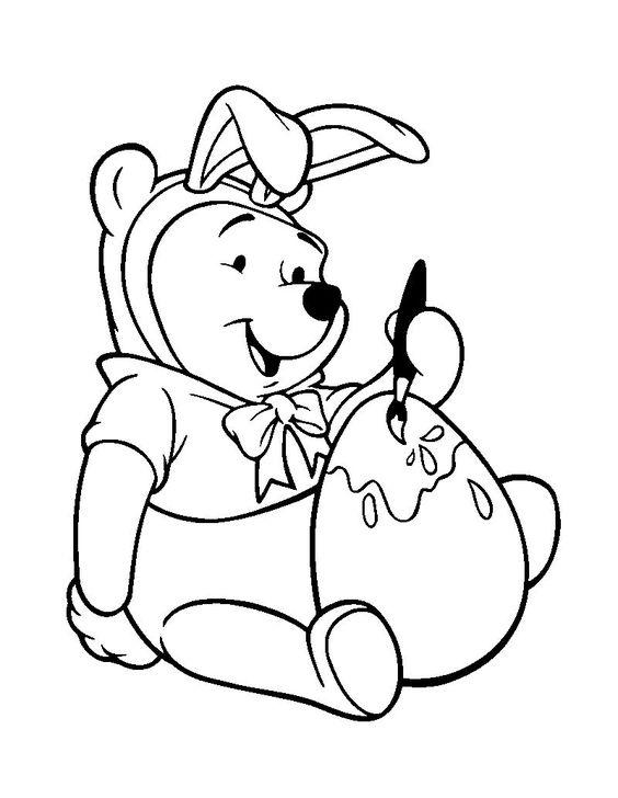 Tranh cho bé tô màu gấu Pooh 4
