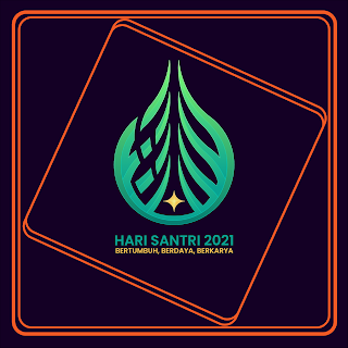 gambar poster ucapan selamat  hari santri 2021 - kanalmu