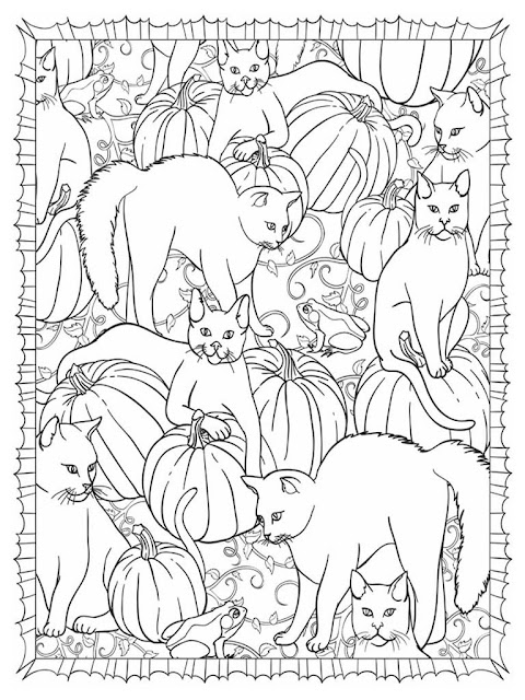Halloween scapes coloring pages for adult free sample 6