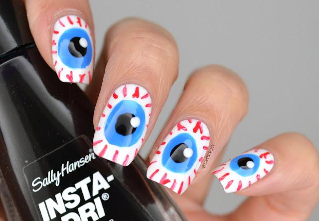 Halloween Eyeball Nail Art