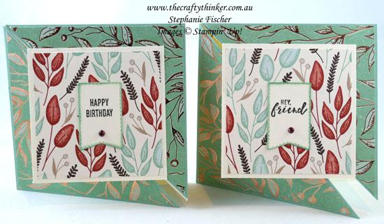 #thecraftythinker #stampinup #funfold #gildedautumn #cardmaking #masculinecard , fun fold, Gilden Autumn, Masculine card, Stampin' Up Demonstrator, Stephanie Fischer, Sydney NSW