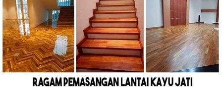 pasang lantai kayu jati