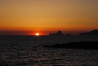 Puesta de sol desde el Molino de Sal en Formentera