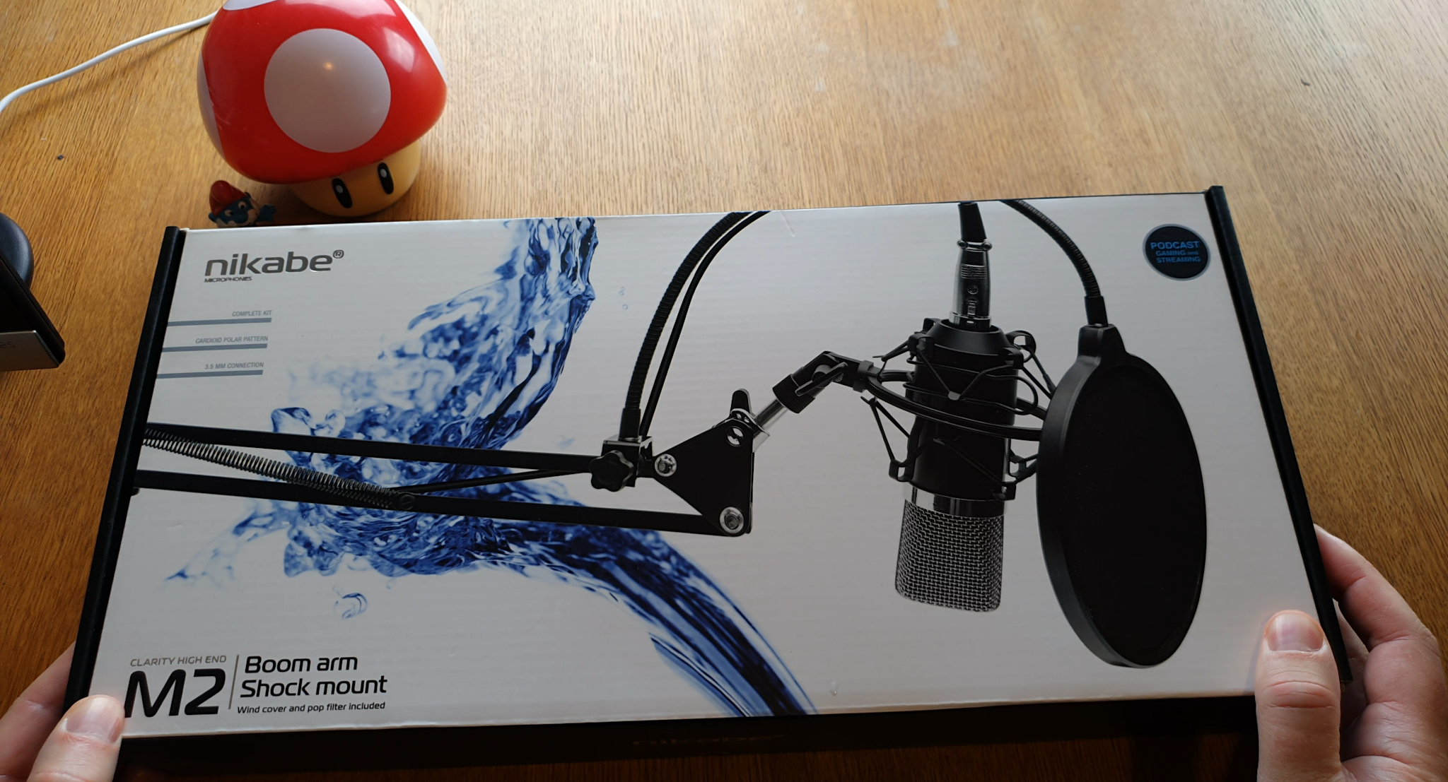 Unboxing of Nikabe M-2 microphone kit for podcasting, video production, streaming & gaming
