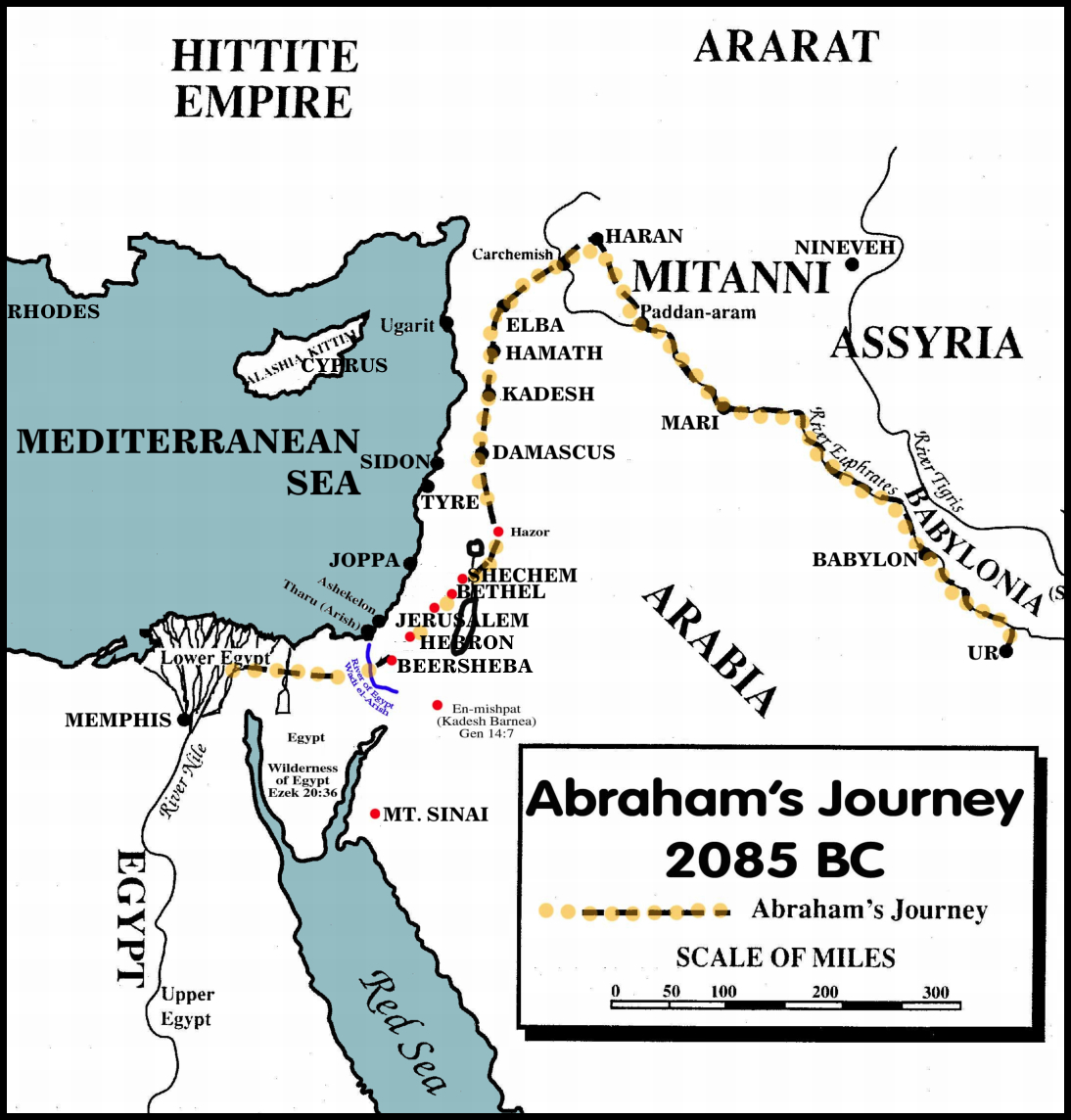 Abrahams Journey From Ur To Canaan