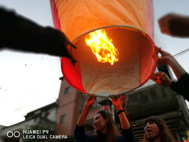 Our wishes were written in the lantern before we tossed up to the sky