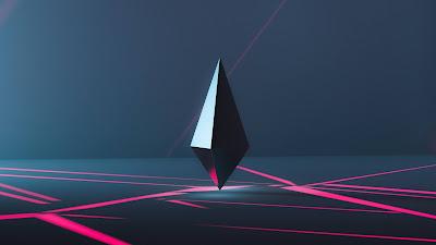 Free 3D polygon shaped wallpaper