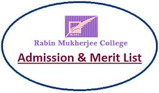 Rabin Mukherjee College Merit List