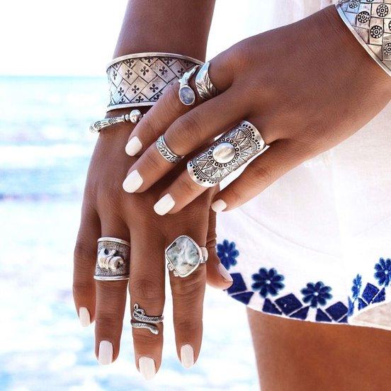 Boho Beach Chic with statement Yewelry