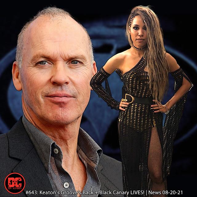 Michael Keaton and Jurnee Smolett | text: DC on SCREEN Podcast