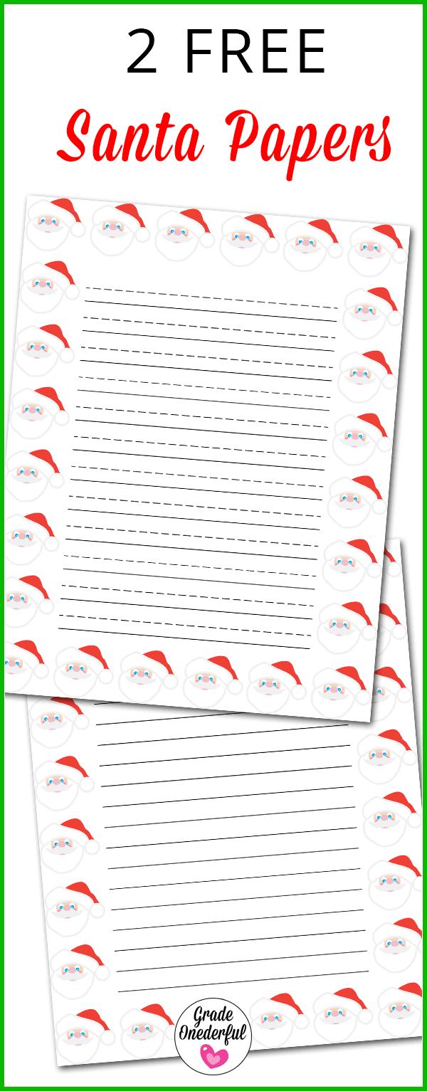 2 free Santa papers
