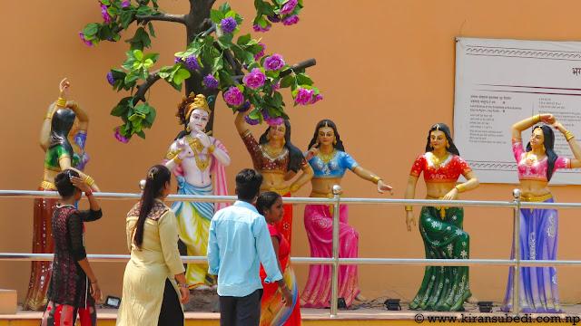 statue representing Female Cultural dance in Nepal