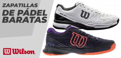 Zapatillas de pádel Wilson en rebajas, desde 28€.