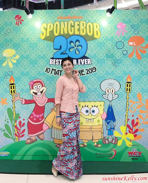 SpongeBob SquarePants, Patrick Star, Seronoknya Raya, Paradigm PJ, Paradigm JB, gatewat@klia2, raya 2019, malaysia shopping mall, shopping mall raya decor lifestyle