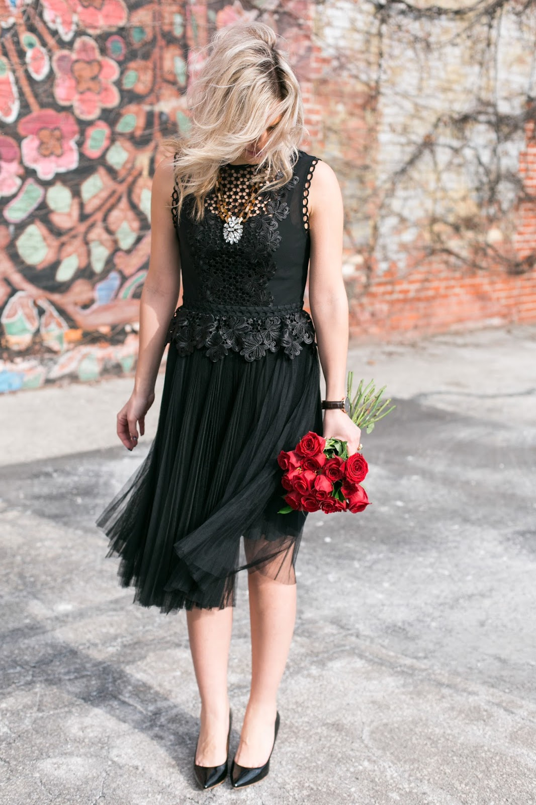 Bijuleni - Ted Baker black lace dress