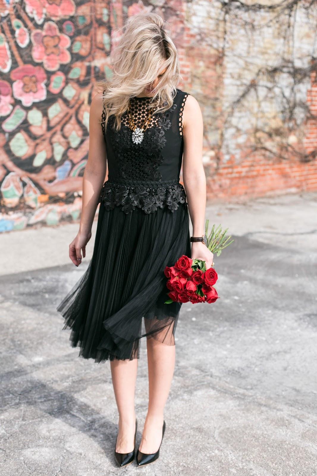 Bijuleni - Ted Baker black lace dress
