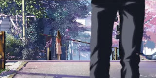 Takaki dan Akari pertemuan terakhir kalinya di perlintasan kereta api review anime
