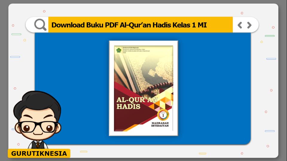download buku pdf al-quran hadis kelas 1 mi