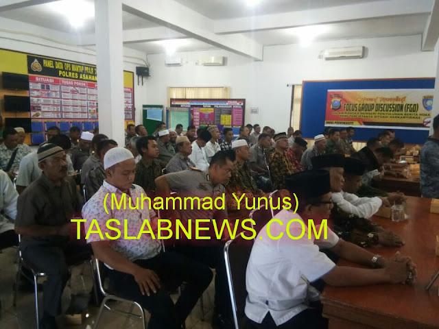 Pertemuan pemuka agama dan masyarakat dengan Polres Asahan.