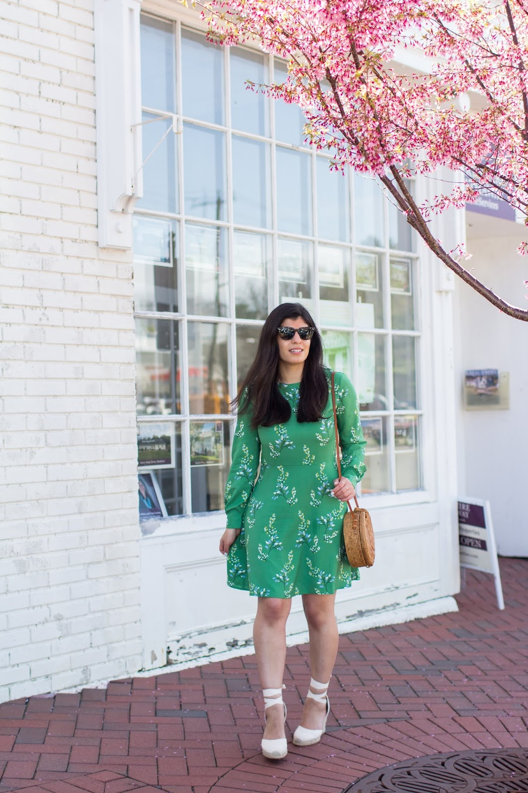 45091fdc2a green floral dress ...