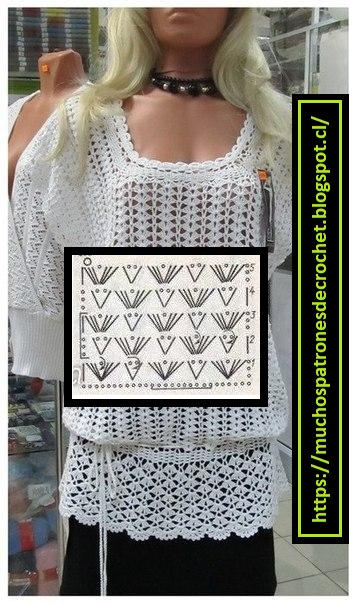 Tunica crochet blanca1