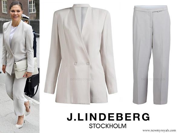 Crown Princess Victoria wore J.LINDEBERG Skye Tech Crepe Blazer and Kaitlin Tech Crepe Trousers