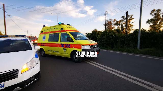 Αργολίδα: Σοβαρό τροχαίο στο Άργος με βαριά τραυματισμένο ποδηλάτη