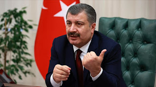 حصيلة جديدة يعلن عنها وزير الصحة التركي للوفيات والإصابات بفايروس كورونا