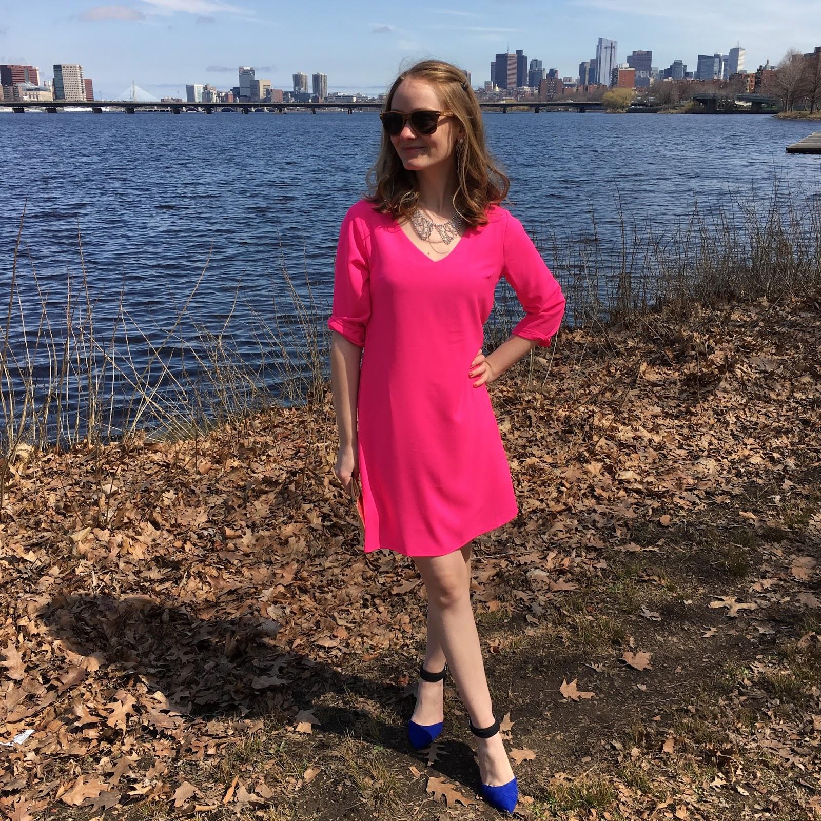 Dress: c/o The Mint Julep Boutique   Heels: Target   Necklace: c/o Rocksbox   Clutch: Fossil