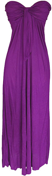 Good Quality Purple Strapless Maxi Dresses for Women