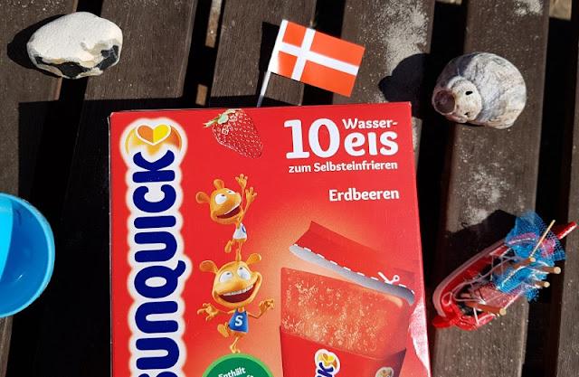 Den Sommer genießen: Leckeres Wassereis aus Dänemark. Beim Eis-Essen ein tolles Dänemark-Gefühl, auch auf der Terrasse in Deutschland.