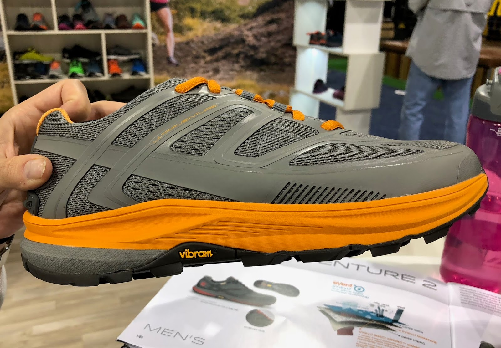 hot sale online d0b14 b996a The new Ultraventure can be thought of as the trail cousin of the Ultrafly,  Topos most cushioned road shoe. They share similar midsole stack heights  and a ...
