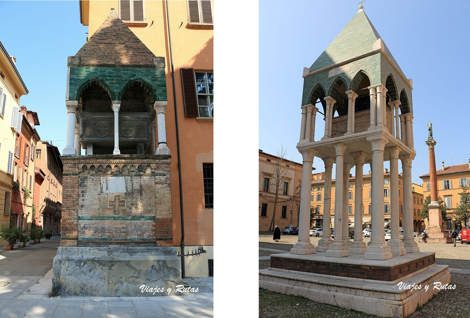 Arcas de Egidio Foscherani y la de Rolandino di Passegeri de Bolonia