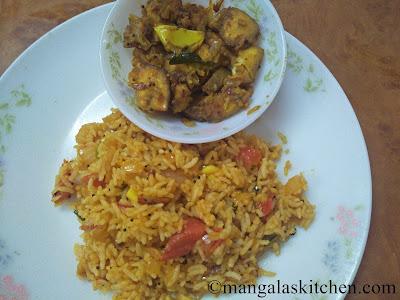 Tomato Rice Lunch box Recipe