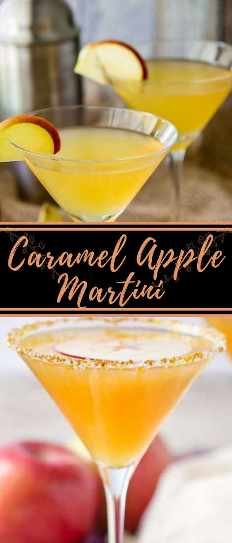 Caramel Apple Martini  #healthydrink #easyrecipe #cocktail #smoothie