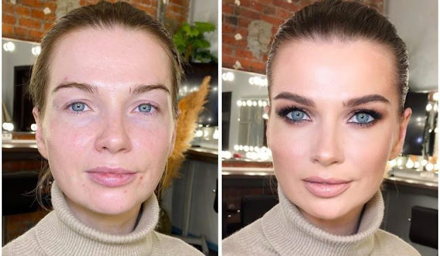 Визажист показала, как после правильного макияжа меняется внешность женщины
